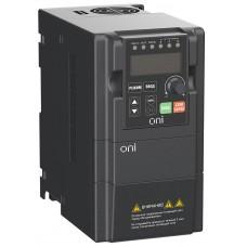 Преобразователь частоты A150 380В 3Ф 0,75кВт 3А встр. торм ONI