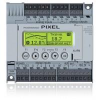 Pixel-1211-02-0 Segnetics Контроллер + HMI 122x32 пикс для вентиляции 6DI (NPN/PNP) 2RO (5A) 1DO (симистор) 5AI (pt100) 1AI (0-10В/4-20мА) 2AO (0-10В) 1RS485 Modbus RTU + БЕЗ внутр.шины