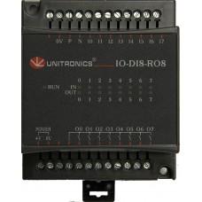 IO-DI8-RO4 Комбинированный модуль дискретного ввода/вывода 8DI, 4RO, 24VDC Unitronics
