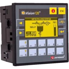 V120-22-R34 ПЛК Vision экран 2.4 дюйма, вх./вых: 20DI, 2AI, 12RO Unitronics